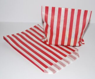 """7"""" x 9"""" - Red Paper Sweet Bags"""