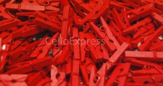 35mm Red Mini Wooden Pegs