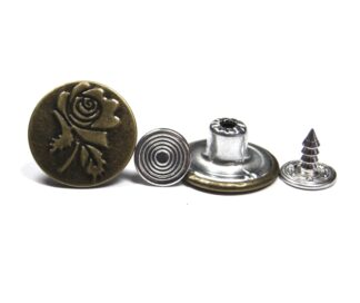 17mm Rugby Rose Jean Studs