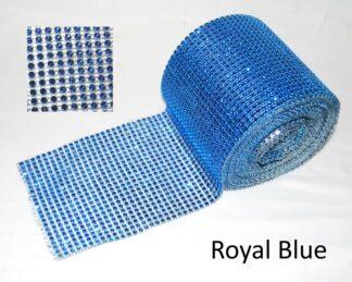 RoyalBlue Diamante Effect Ribbon