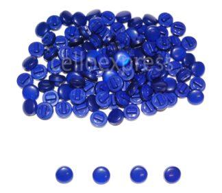 Royal Blue Mushrrom Buttons