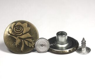20mm Rugby Rose Jeans Studs