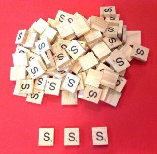 Letter 'S' Scrabble Wooden Tiles