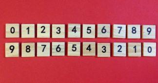 Number Scrabble Tiles