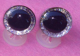 3D Silver Glitter Eyes