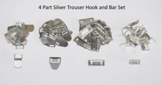 Silver 4 Part Hook and Bar Set