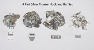 Silver 4 Part Hook and Bar Set