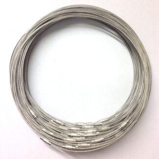 Silver RidgedClasp Wire Necklace