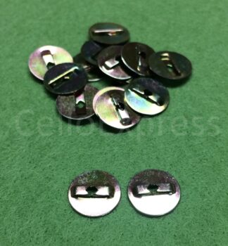 Size 0 Metal Backs - Fits 6mm