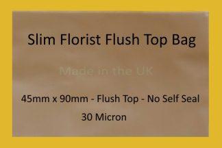 Slim Florist Flush Top Cello Bag