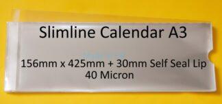 Slimline A3 Calendar Cello Bag