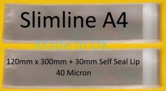 Slimline A4 Cellos - 120 x 300mm