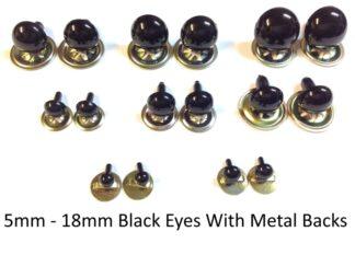 Solid Black Eyes Metal Back