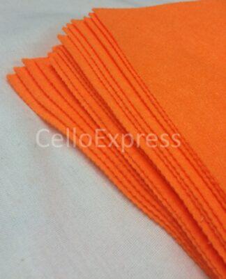 Superbright Orange Felt Lengths