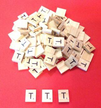 Letter 'T' Scrabble Wooden Tiles
