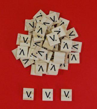 Letter 'V' Scrabble Wooden Tiles