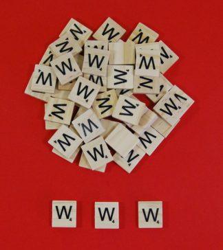 Letter 'W' Scrabble Wooden Tiles
