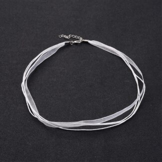 White 430mm x 6mm Necklaces