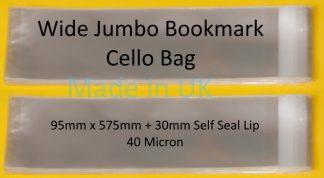 Wide Jumbo Bkmark Cello 95x575mm