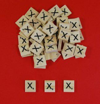 Letter 'X' Scrabble Wooden Tiles