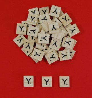 Letter 'Y' Scrabble Wooden Tiles