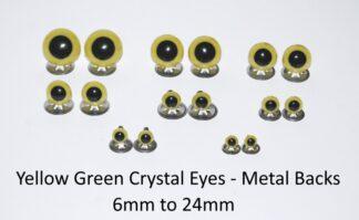 Yellow Green Eyes Metal Backs