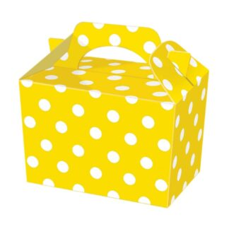 Yellow Polka Dot PartyFood Boxes