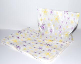 "7""X9""- Star Burst Purple& Yellow"