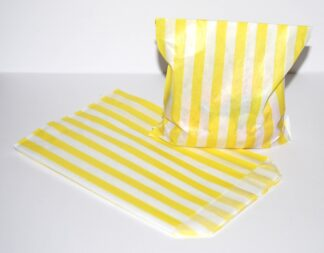 """7"""" x 9"""" -Yellow Paper Sweet Bags"""