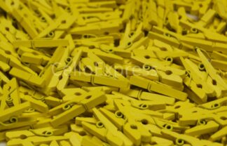 25mm Yellow Wooden Pegs
