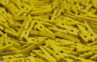 35mm Yellow Mini Pegs