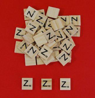 Letter 'Z' Scrabble Wooden Tiles