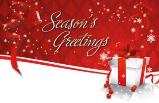 Seasons Greetings - Red Parcel