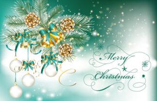 Merry Christmas - Pine Cones