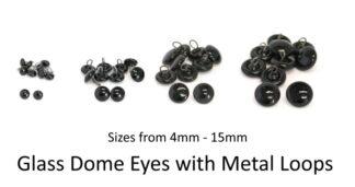 Glass Eyes Metal Loops
