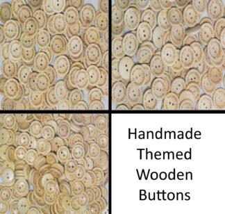 15mm Wooden Handmade Buttons