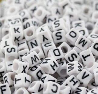 A - Cubed Alphabet Beads