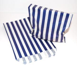 "10"" x 14"" Blue Striped Sweet Bag"