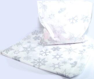 """7"""" x 9"""" - Silver Snowflake Sweet"""