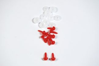 4mm Solid Red Dome Plastic Back celloexpress