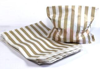 Latte Stripe Paper Sweet Bag celloexpress