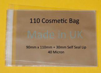 110 Cosmetic Bag - 90mm x 110mm
