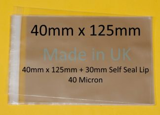 40mm x 125mm Cello Bags