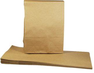 Brown 6 x 12 inch Kraft Block Bottom Paper Bags celloexpress