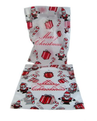 Christmas Frosted Eco Plastic bags 10 x 12 celloexpress