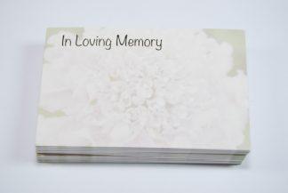 In Loving Memory - White Flower
