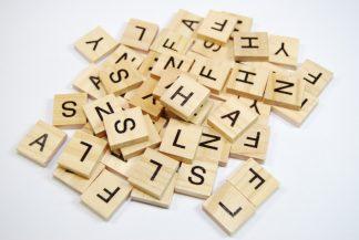 No Number Value Wooden Scrabble Tiles