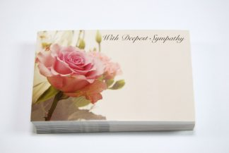 Deepest Sympathy - Pink Flowers 2
