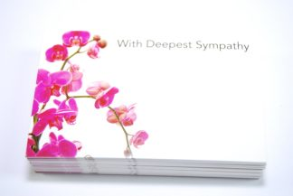With Deepest Sympathy - Pink Flowers 3 florist cards celloexpress