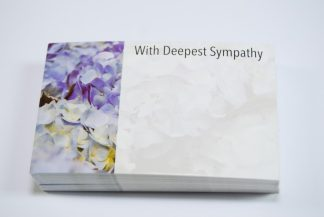 With Deepest Sympathy - Violet Flowers florist cards celloexpress